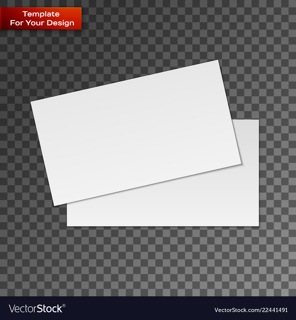 Blank business cards on transparent background Vector Image Regarding Transparent Business Cards Template