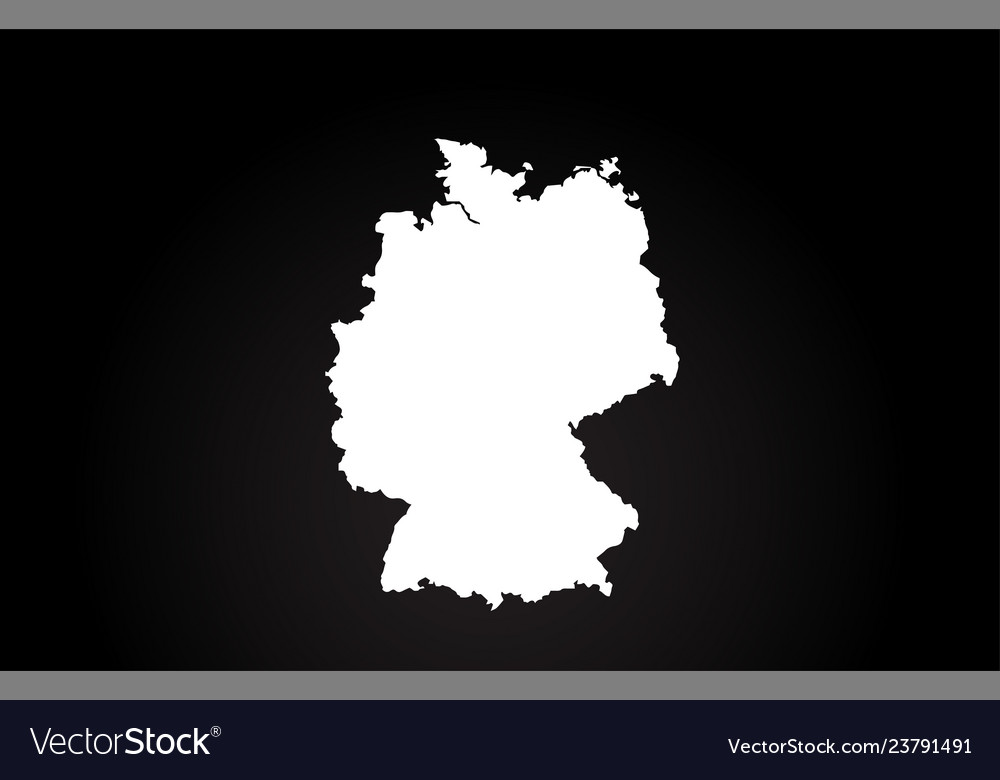 Country Of Germany Map.Germany Black And White Country Border Map Logo