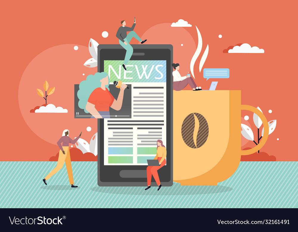 Online news flat style design