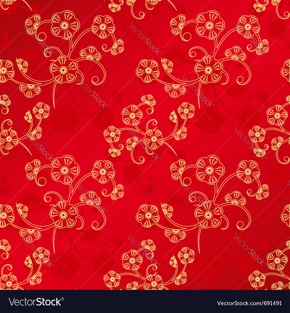Oriental chinese new year vector image