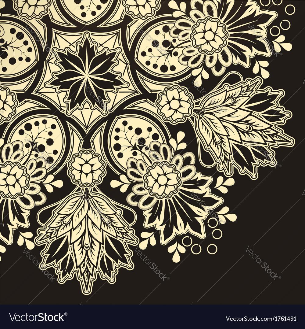 radial geometric floral pattern royalty free vector image rh vectorstock com floral pattern vector illustration flower pattern vector