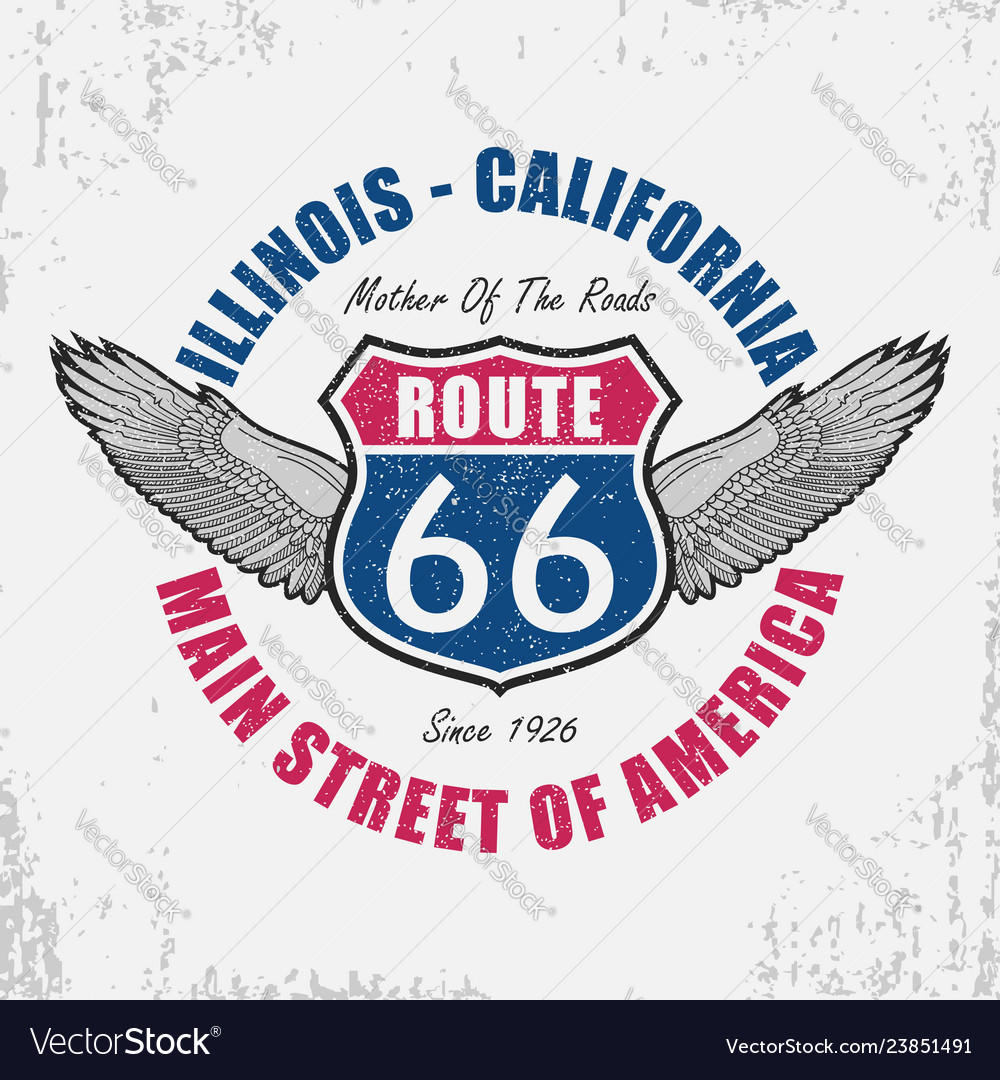 Route 66 t-shirt with wing