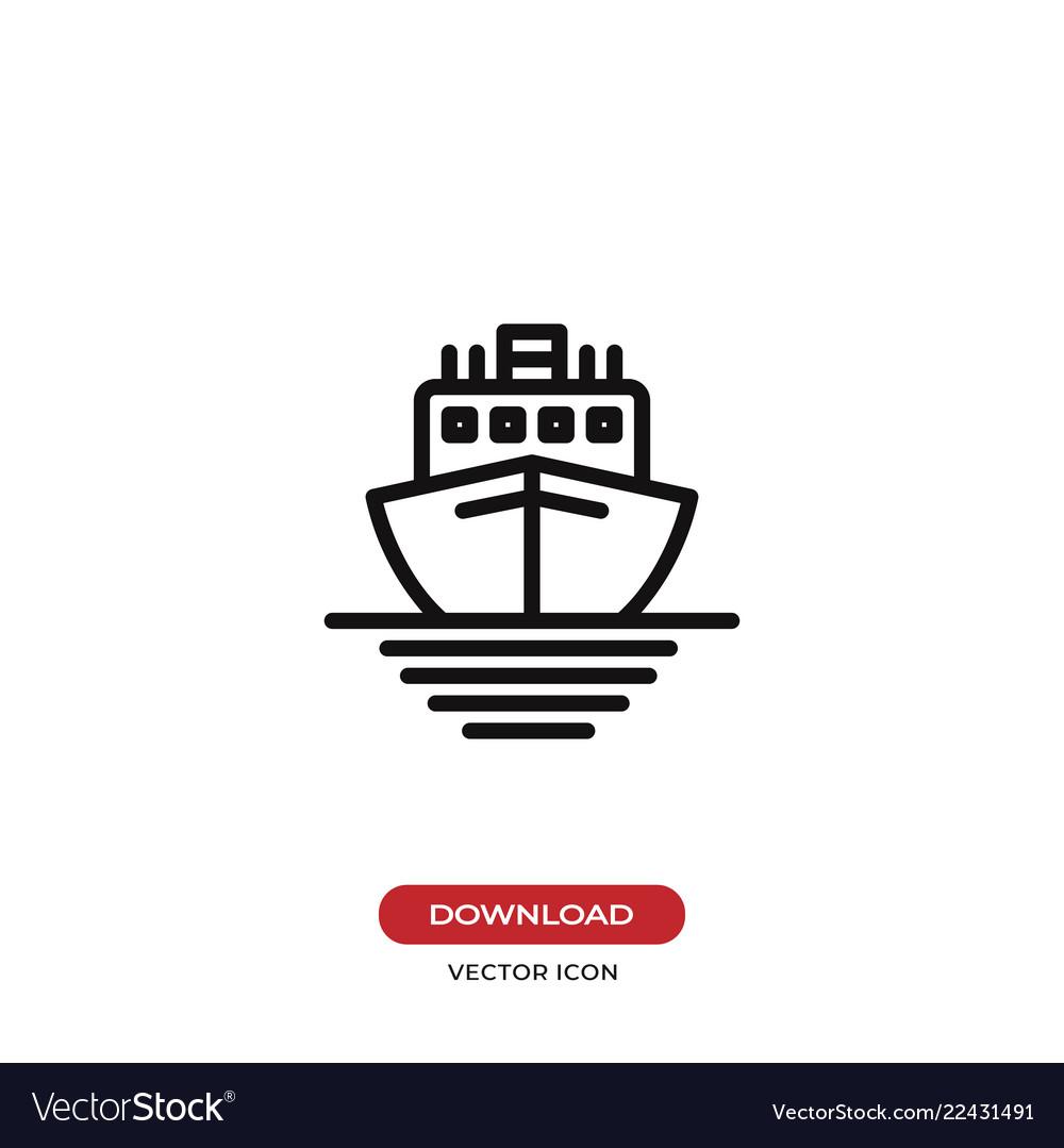 Ship icon cruise symbol