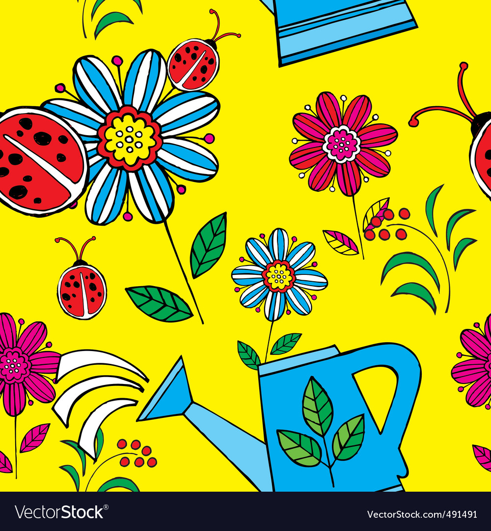 Summer floral print pattern