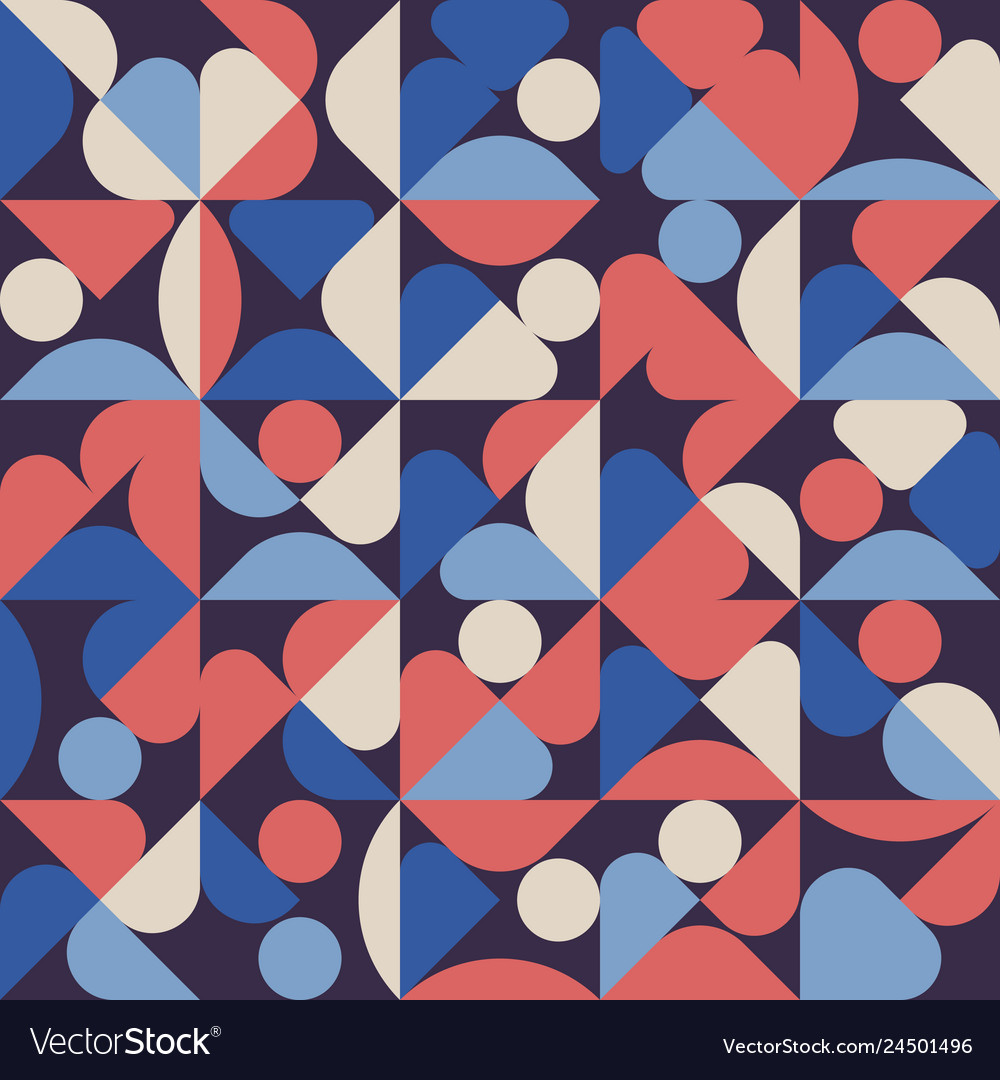 Abstract geometric minimal pattern artwork poster
