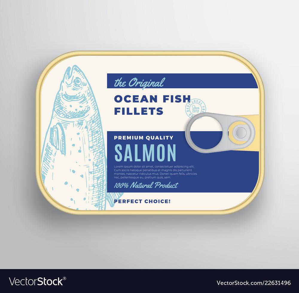 Abstract ocean fish fillets aluminium