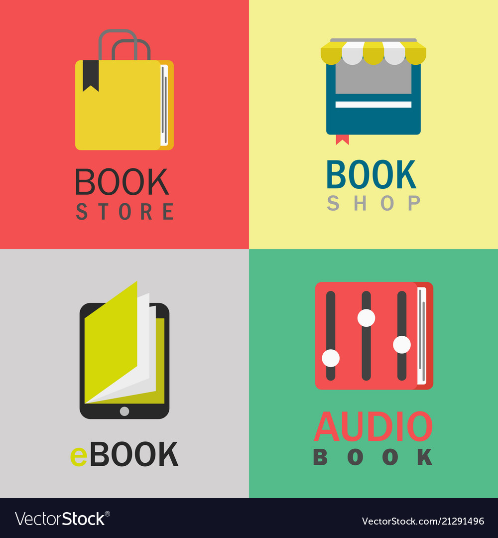 Book logo set