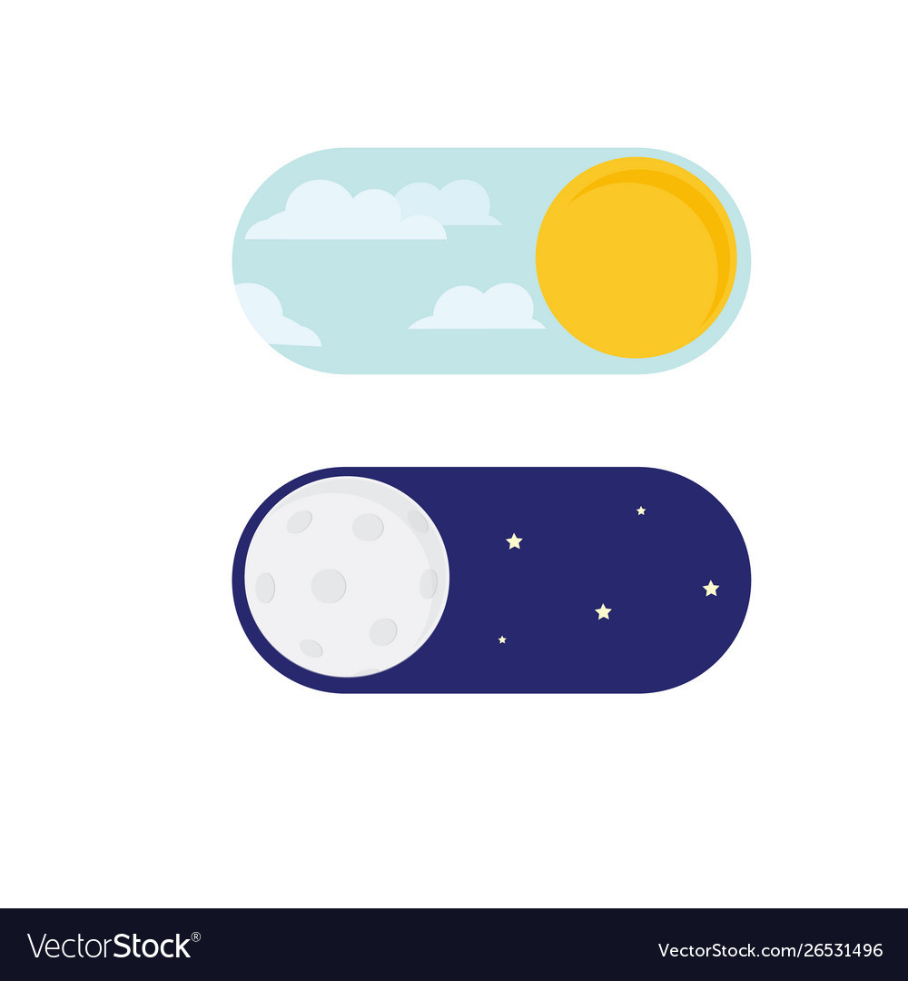Day night concept sun and moon day night icon vector
