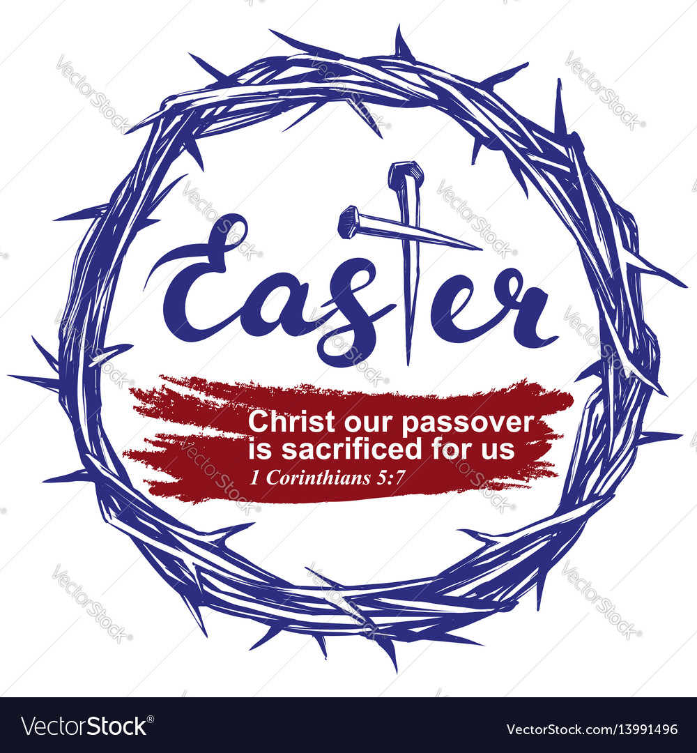 Easter holiday religious symbol of christianity vector image