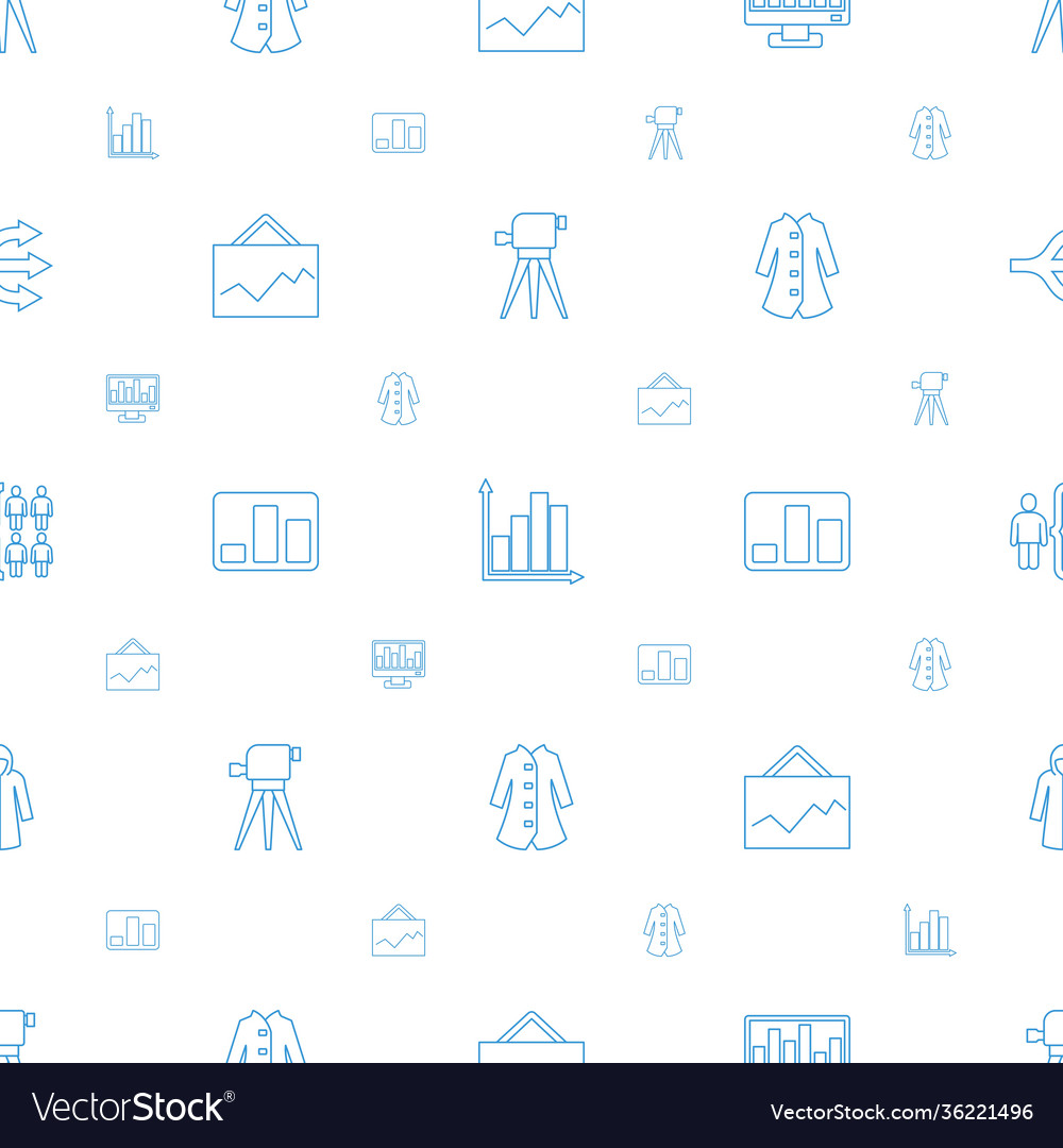 Infographic icons pattern seamless white