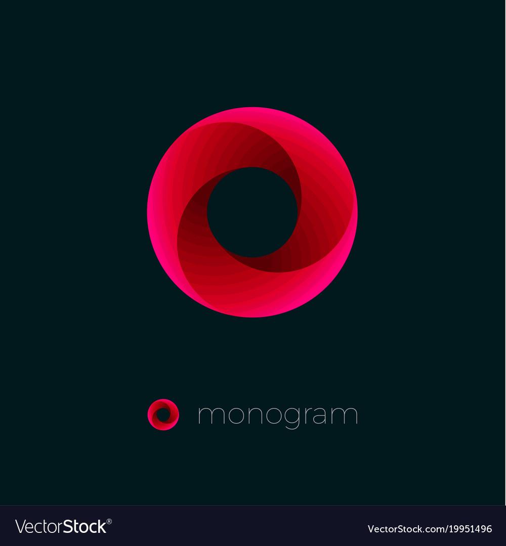 o logo red vortex dynamic swirl royalty free vector image