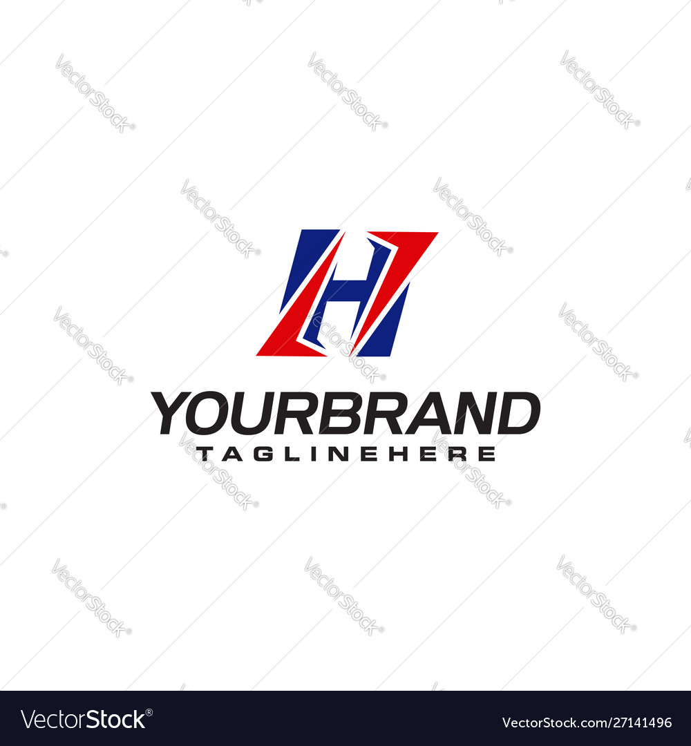 Unique logo that forms letter h matches your