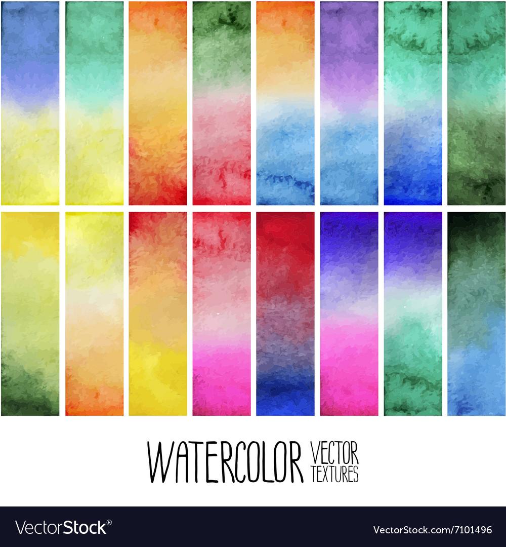 Watercolor gradient rectangles