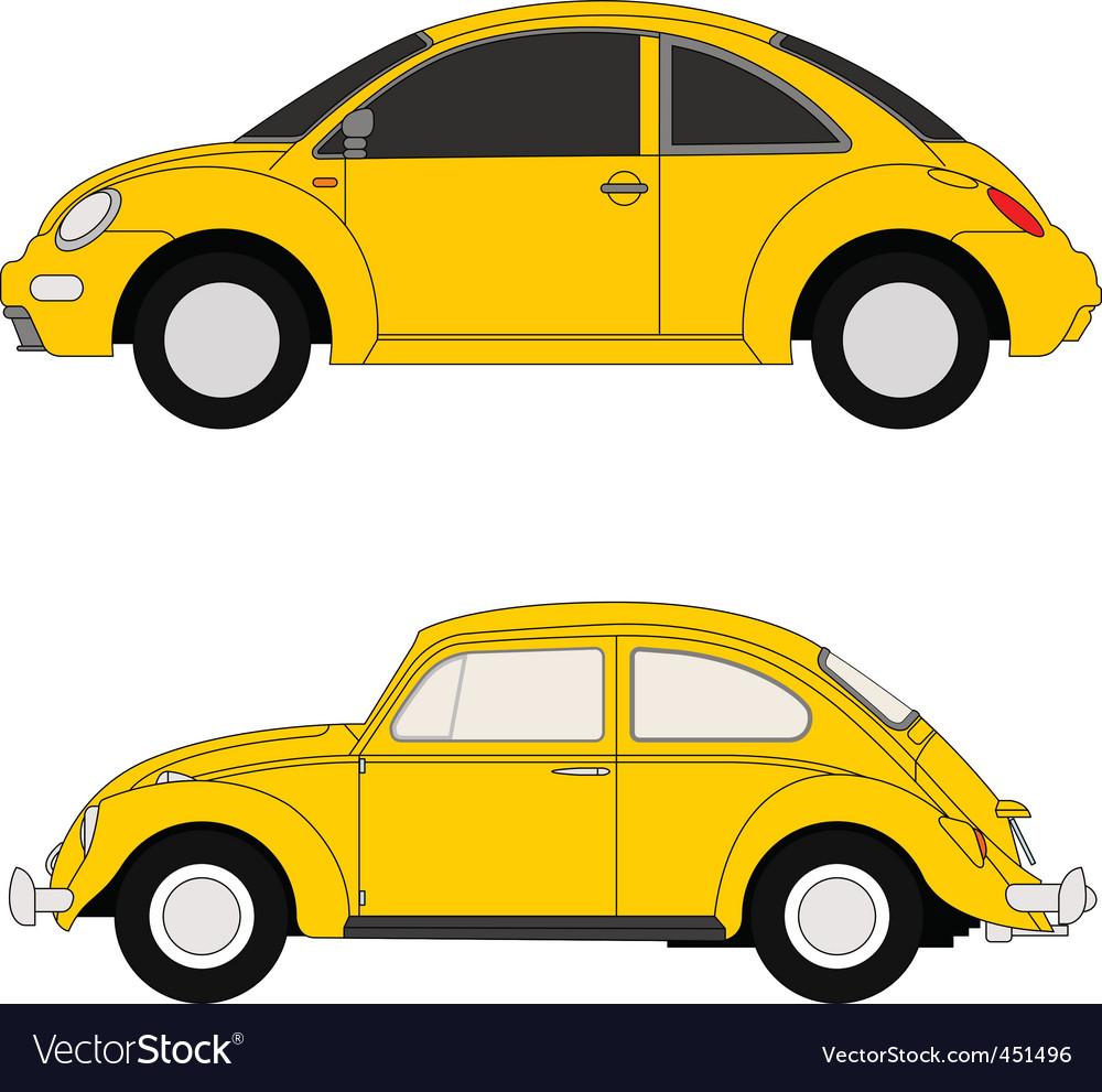 Yellow beetles vector image