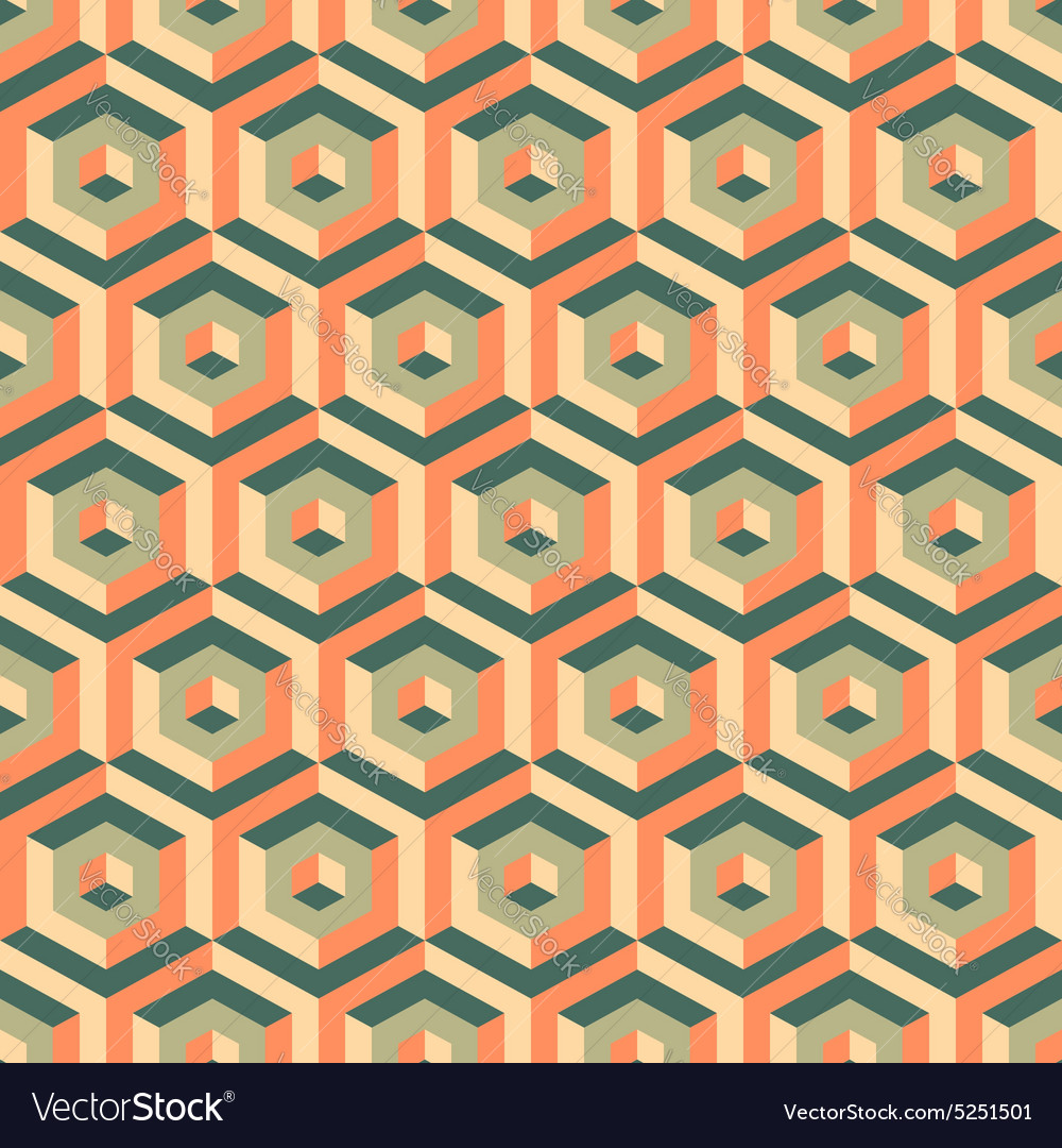 3d seamless abstract with hexagonal elements