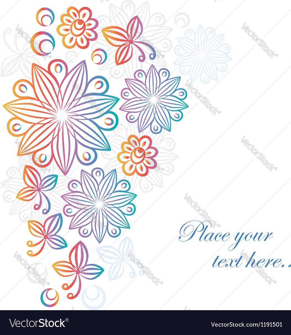 Abstract floral background vector image