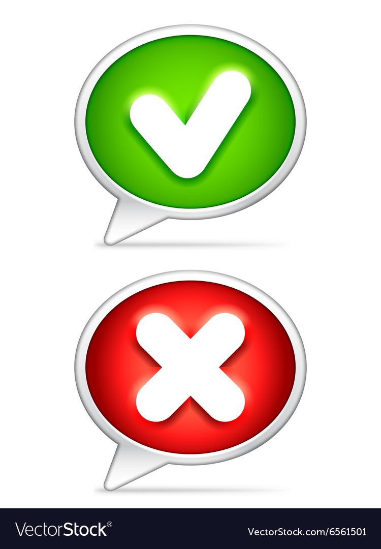 Check Mark Symbols Royalty Free Vector Image Vectorstock