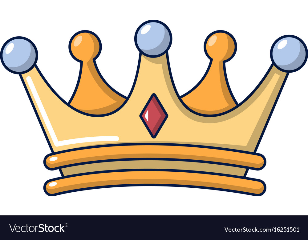 crown icon cartoon style royalty free vector image rh vectorstock com crown cartoon gold crown cartoon image