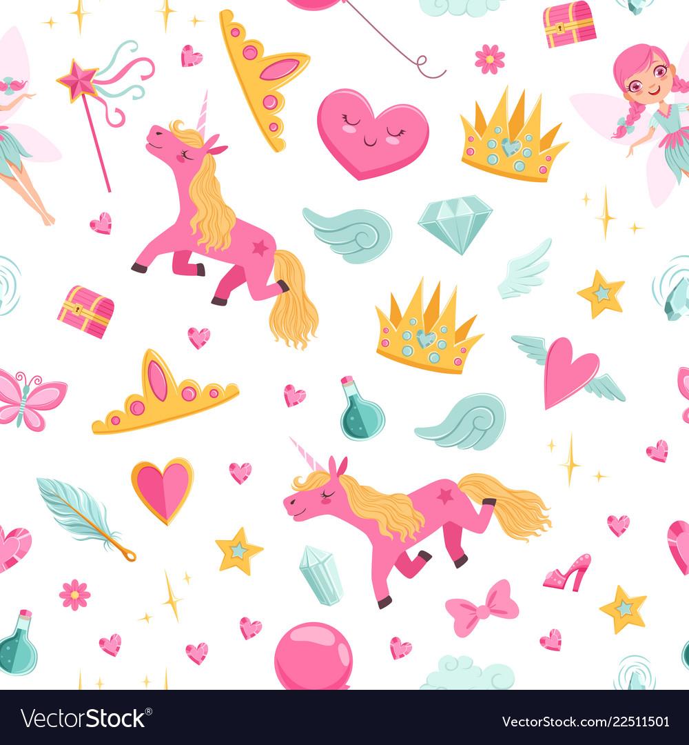 Cute cartoon magic and fairytale elements