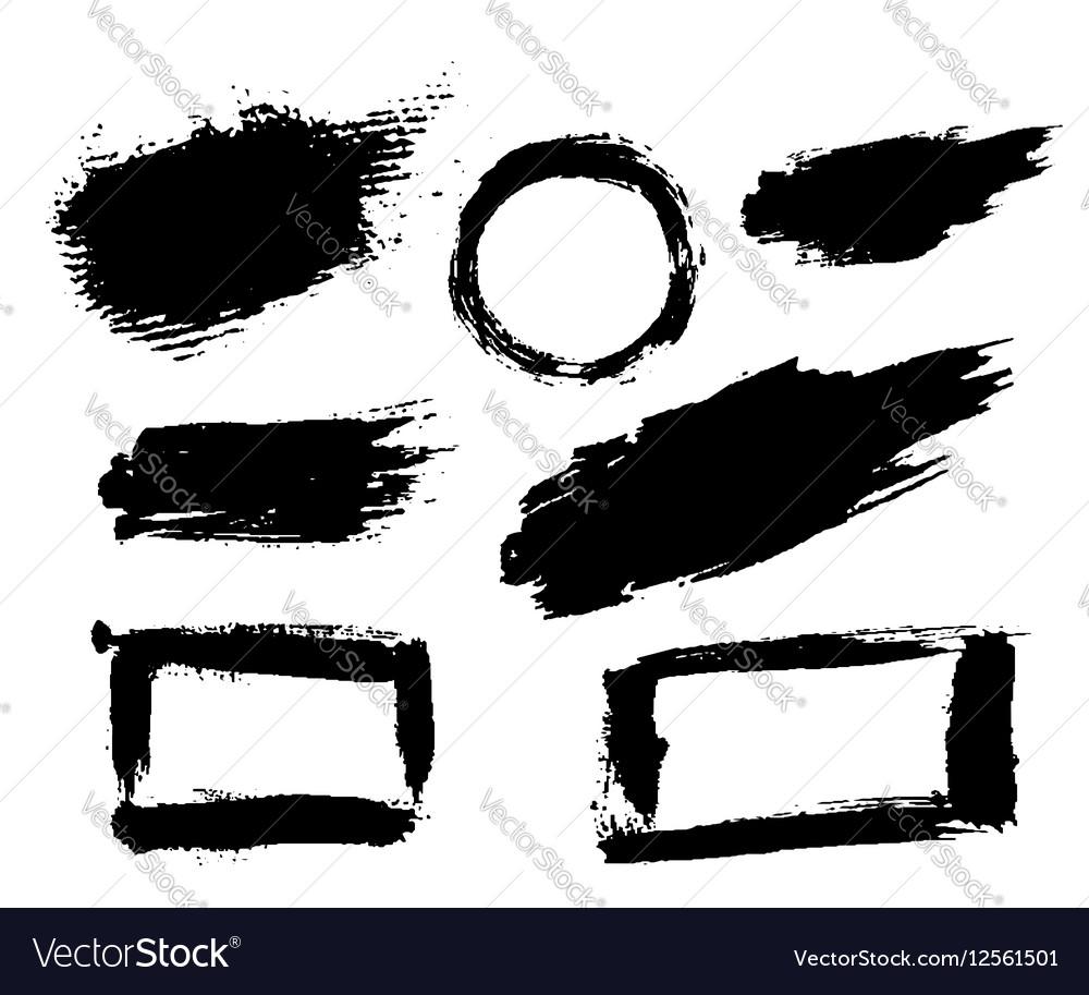 Grunge brush texture smear vector image