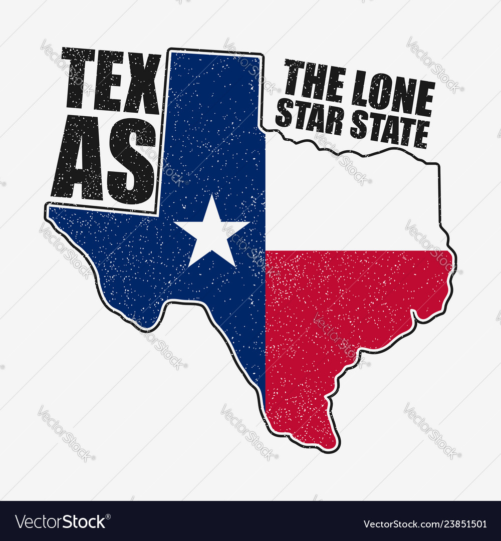 Texas t-shirt with flag