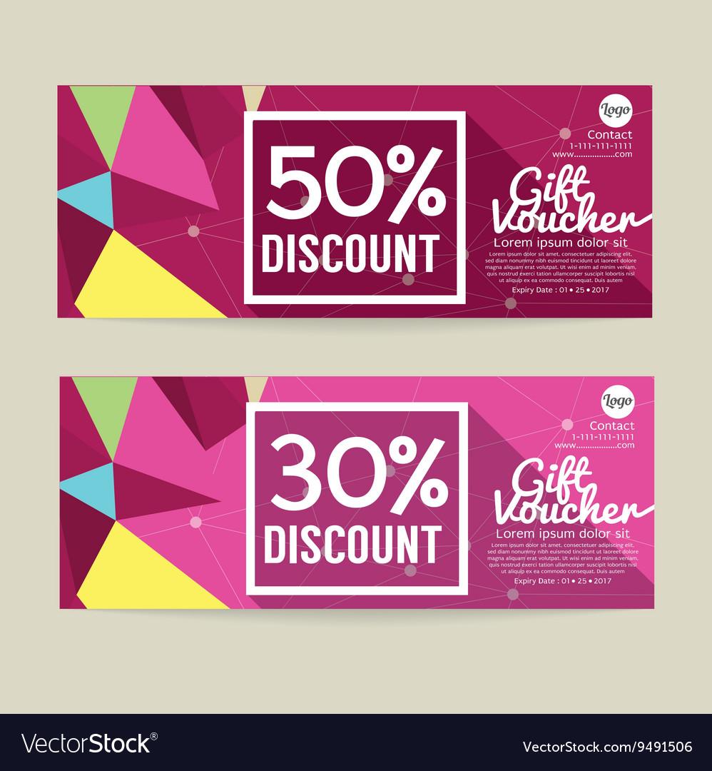 30 50 percent discount voucher template vector image