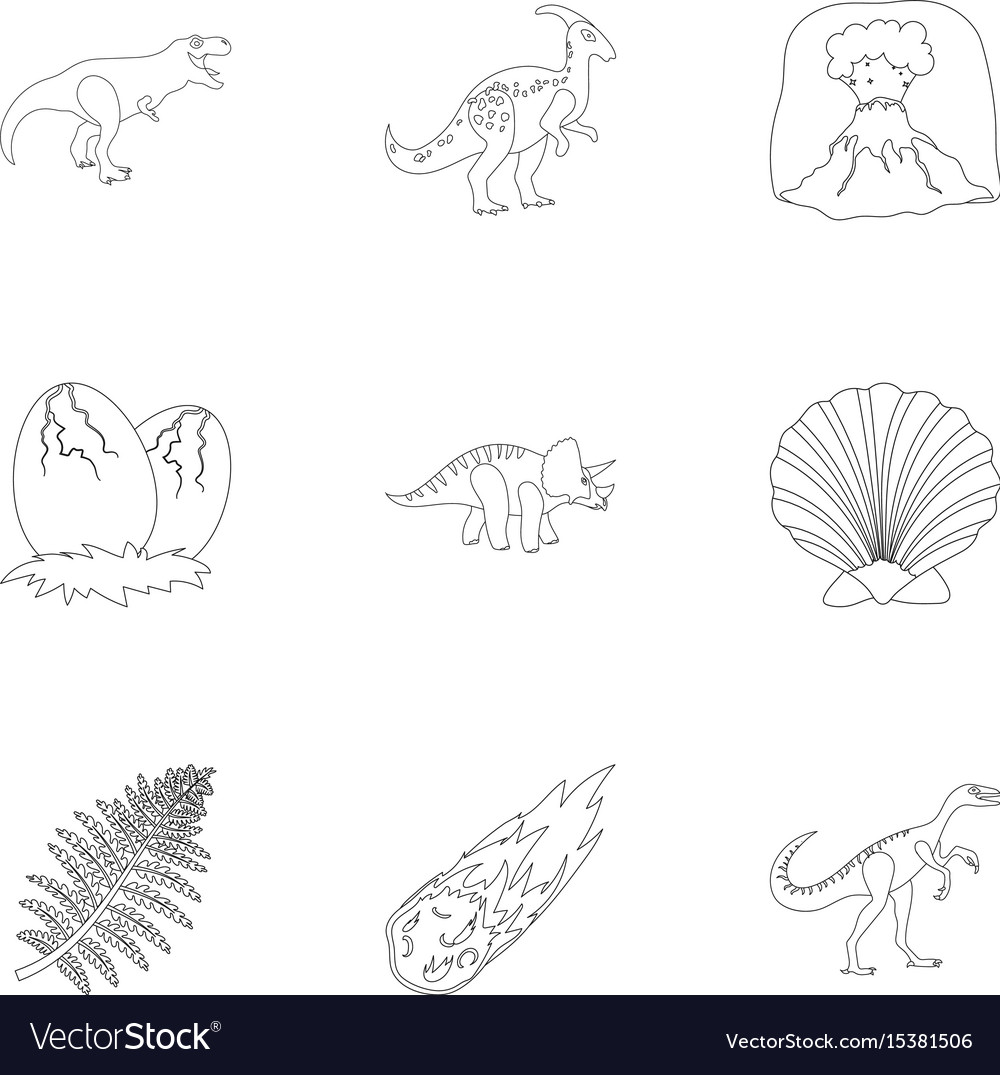 Animals Coloring Weasyl Ancient Extinct Animals And Their Tracks And Vector Image