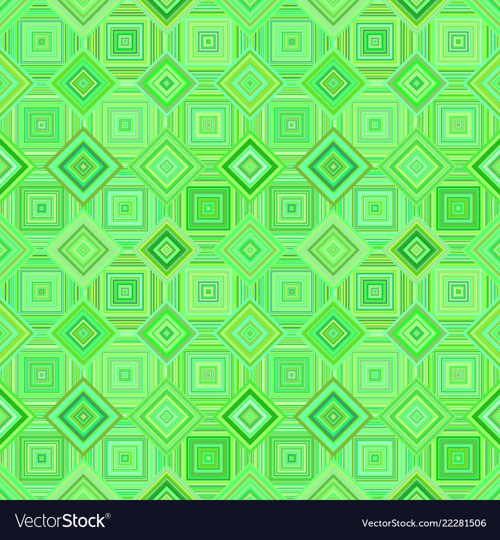 Green geometrical diagonal square mosaic tile