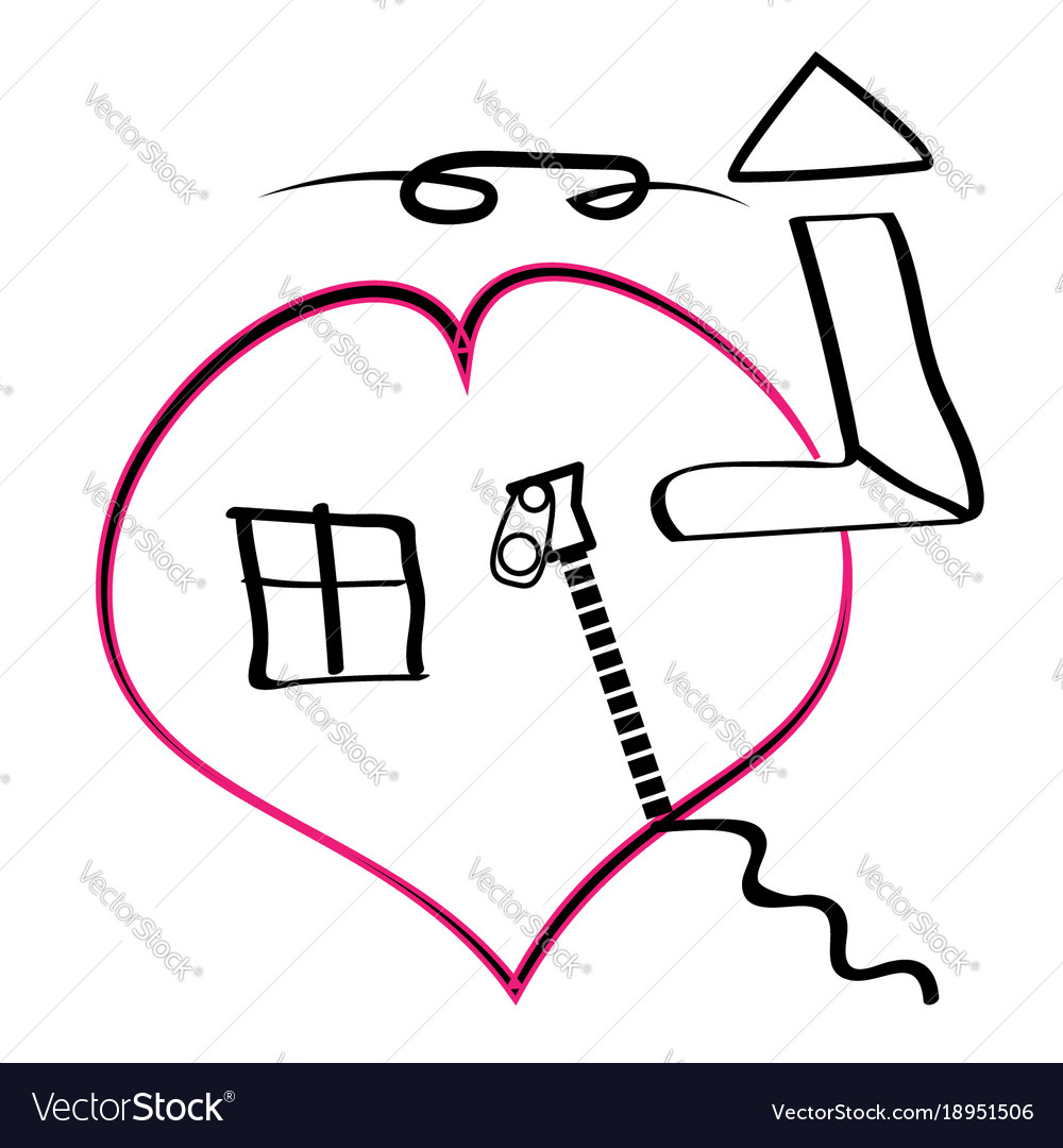 House in heart icons