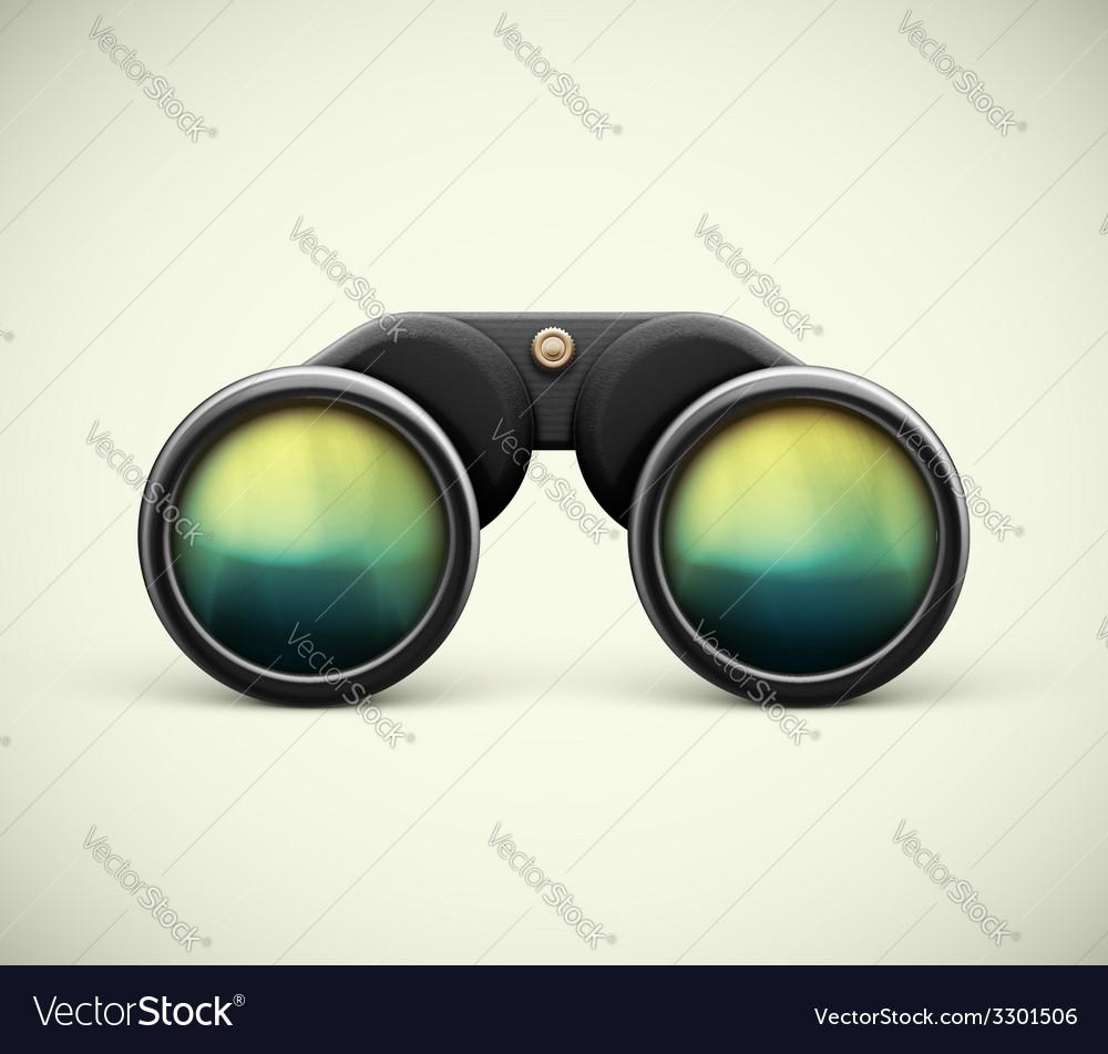 Isolated Binoculars vector image