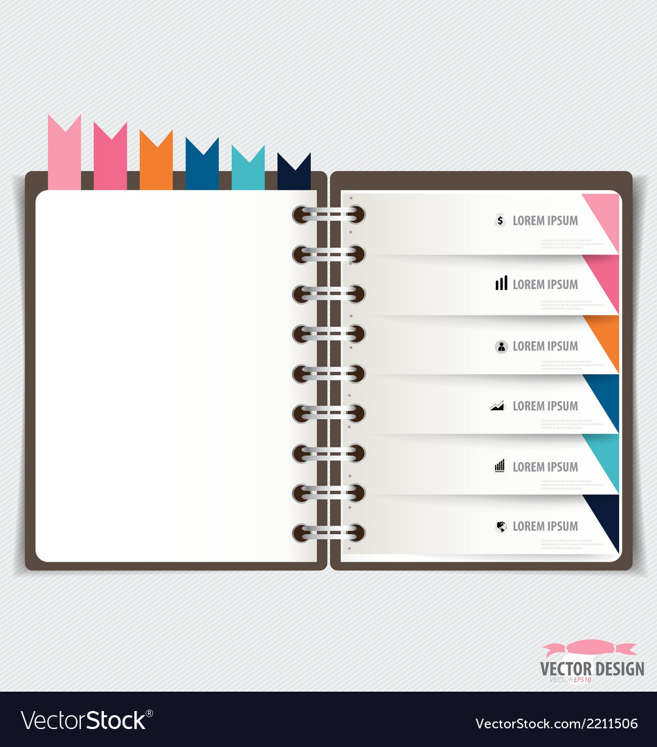 Modern Design template of spiral notebook with Vector Image
