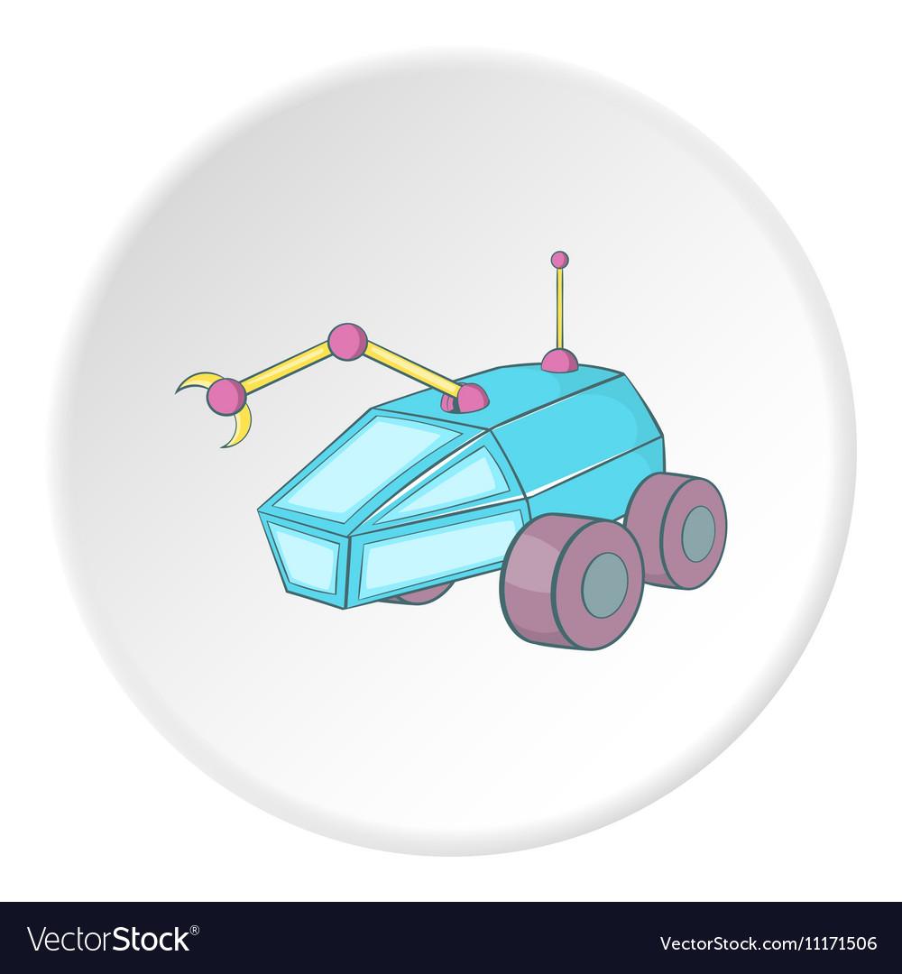 Moon rover icon cartoon style vector image