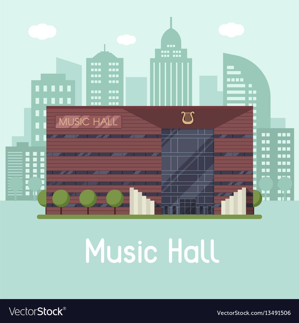 Music city hall landscape vector image