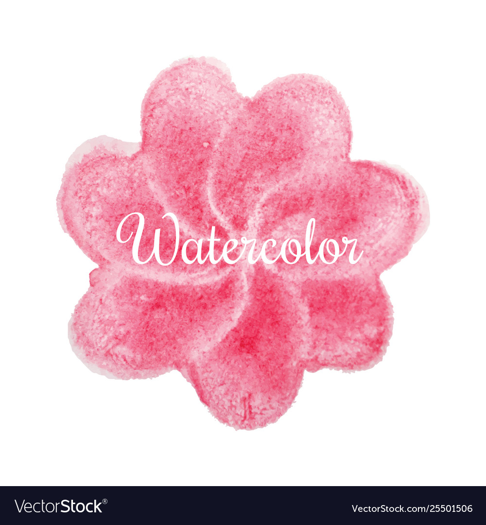 Pink flower watercolor hand drawn background