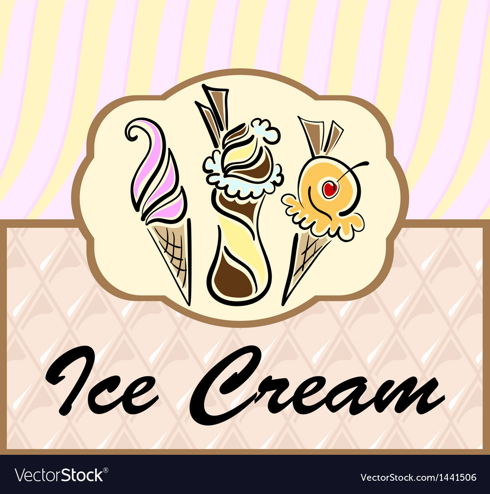 Text frame with abstract ice cream symbols