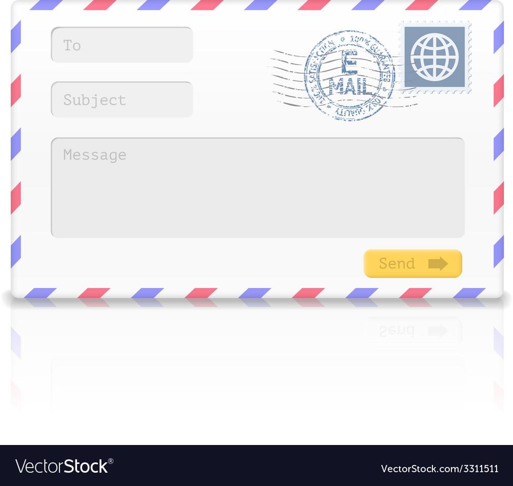 Email envelope isolated on white background