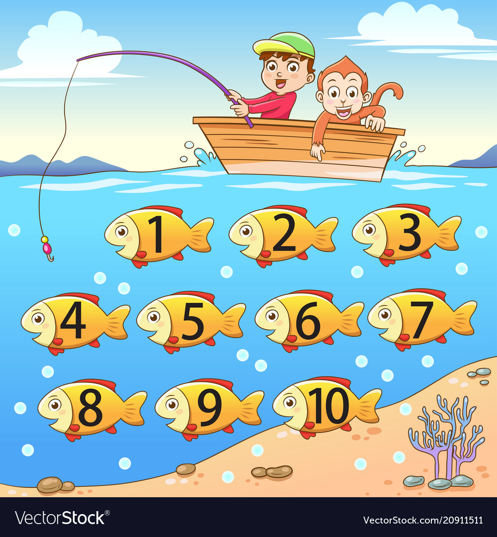 Learn counting number with fishing