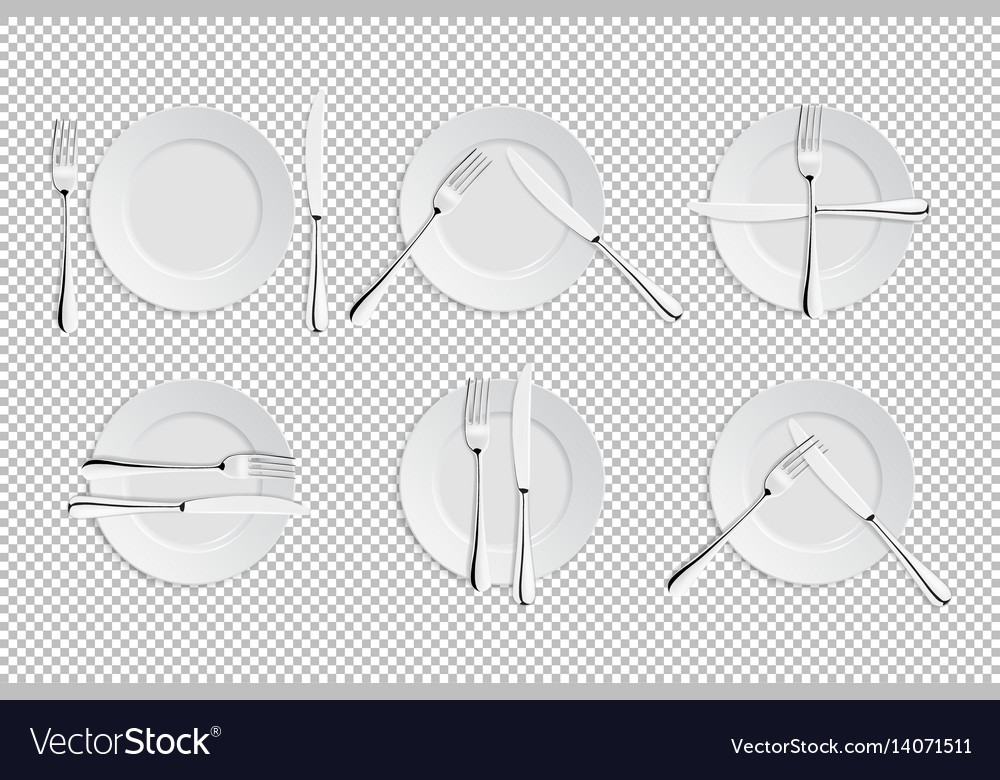Realistic cutlery and signs of table