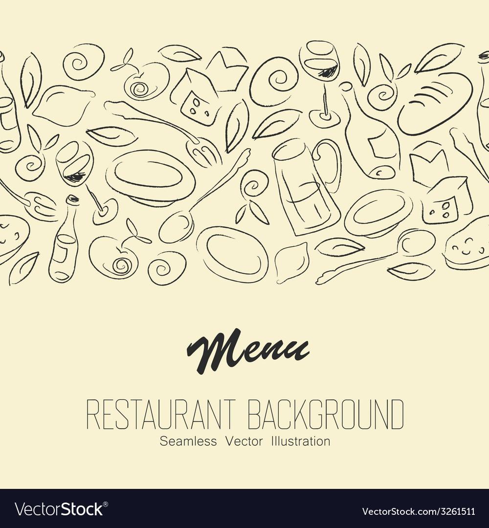 Seamless restaraunt background with copyspace