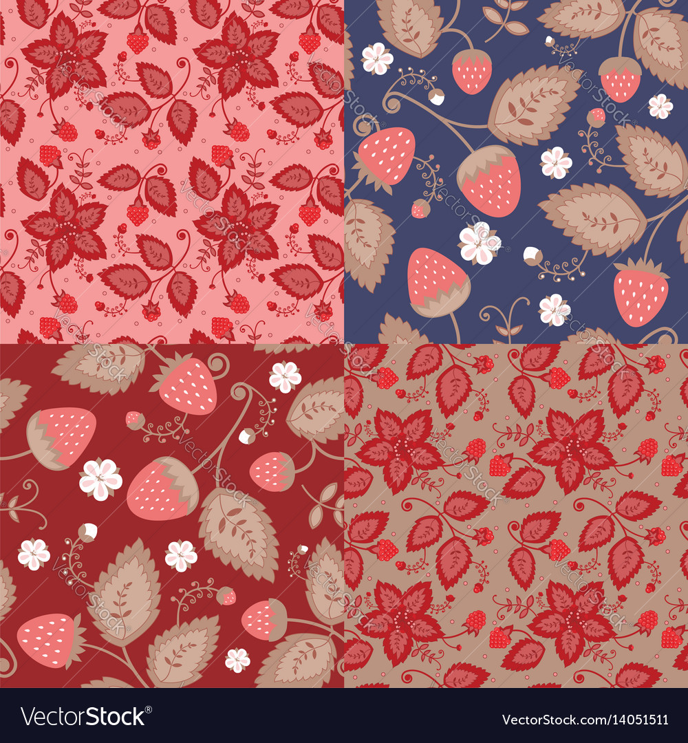Set of patterns of berries vector image