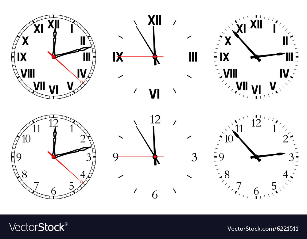 Set watch isolated on a white background vector image