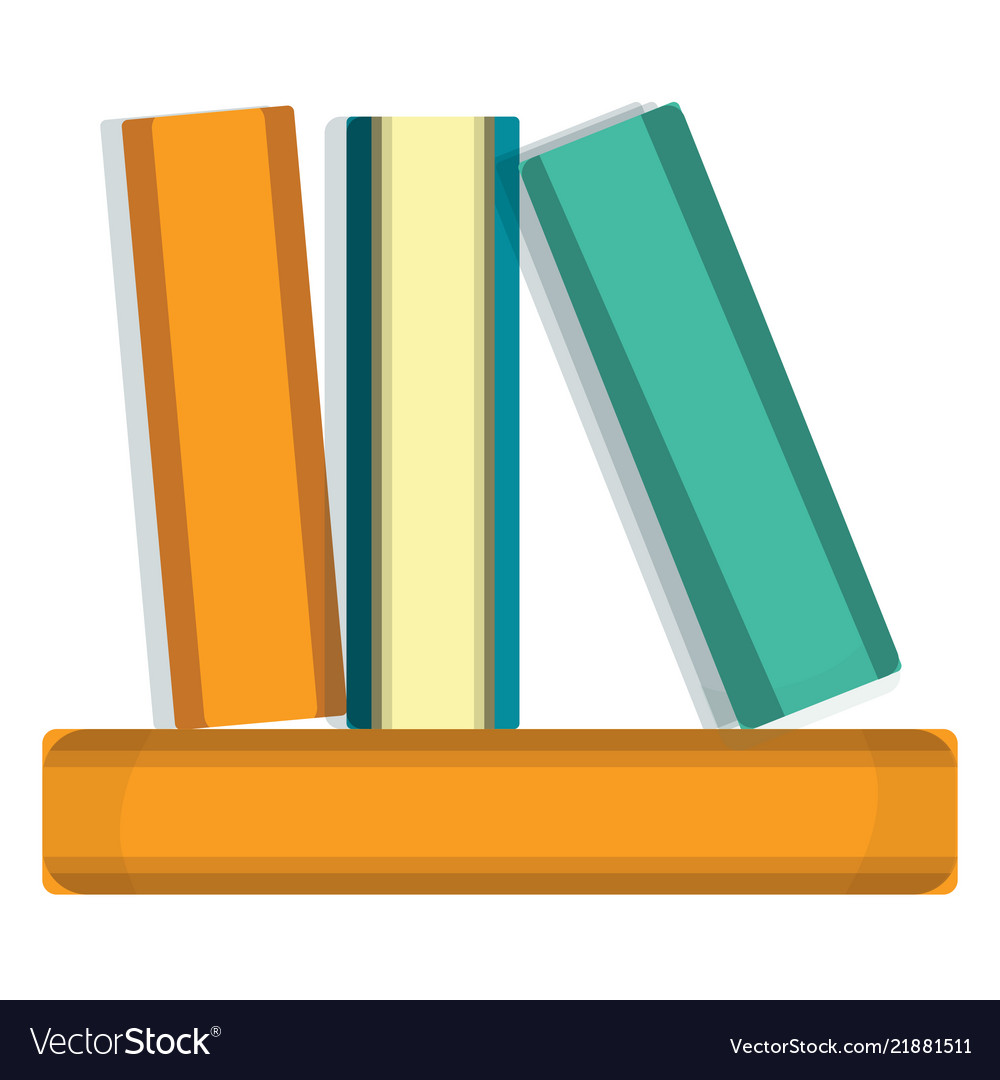 Stack of books icon cartoon style