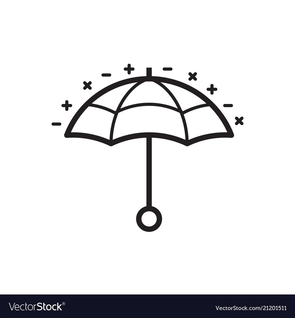 Umbrella or parasol line icon