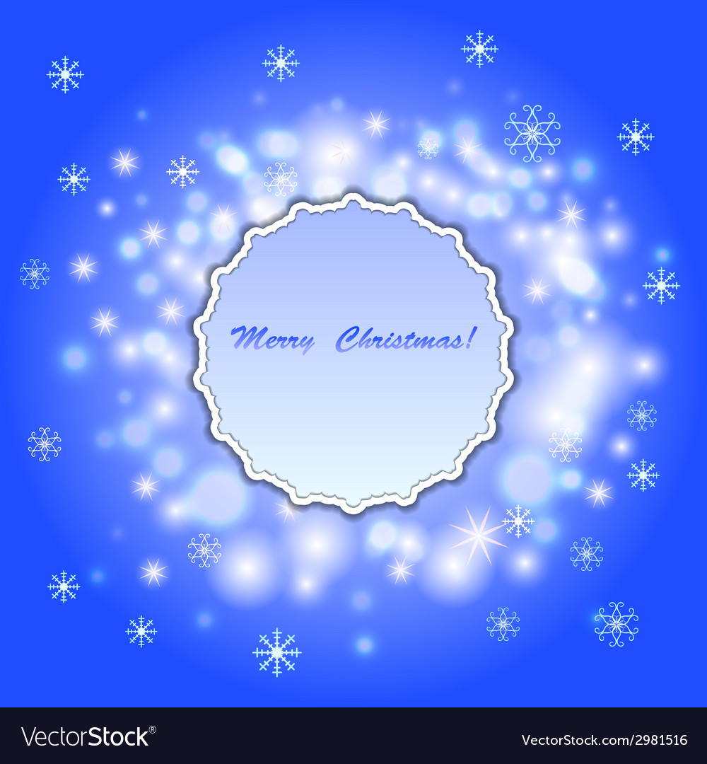 Abstract christmas background with frame vector image