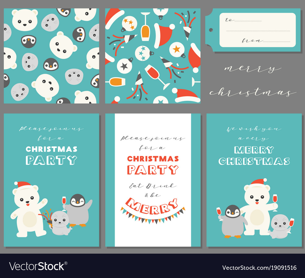 Antarctic friends for merry christmas