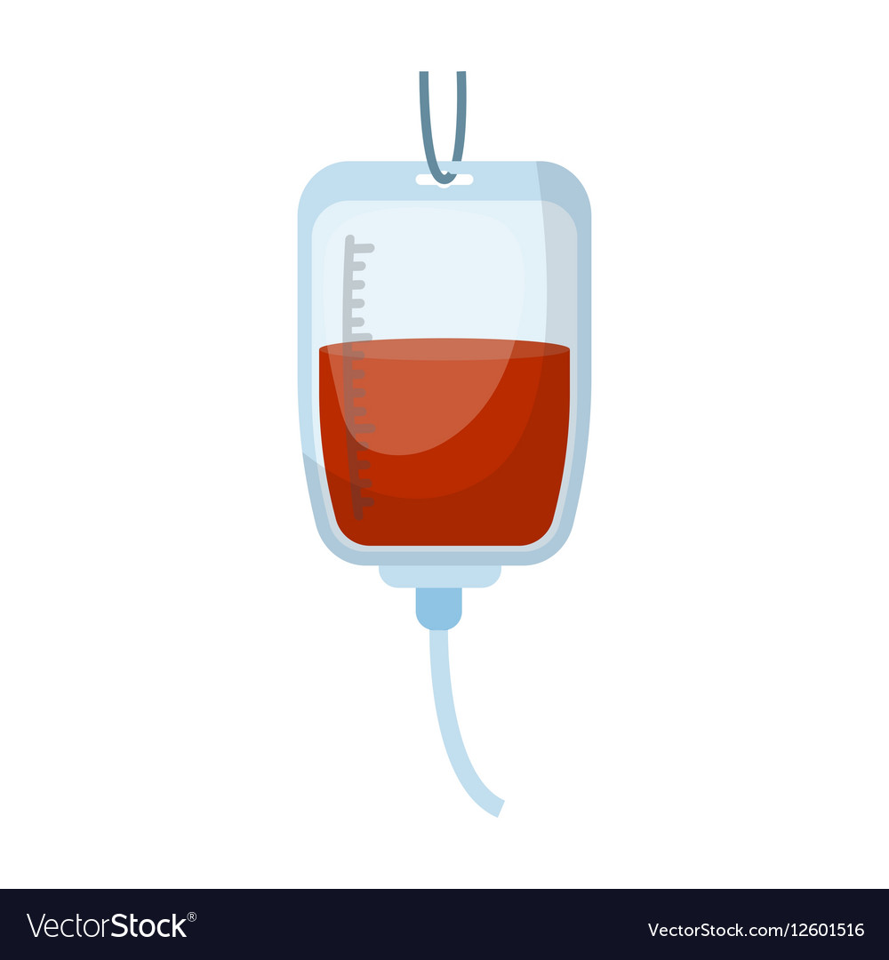 Blood donation icon in cartoon style isolated on