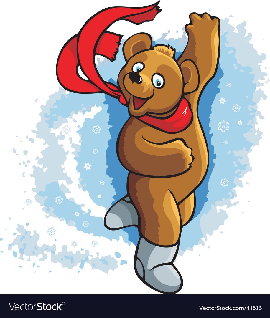Dancing bear vector image