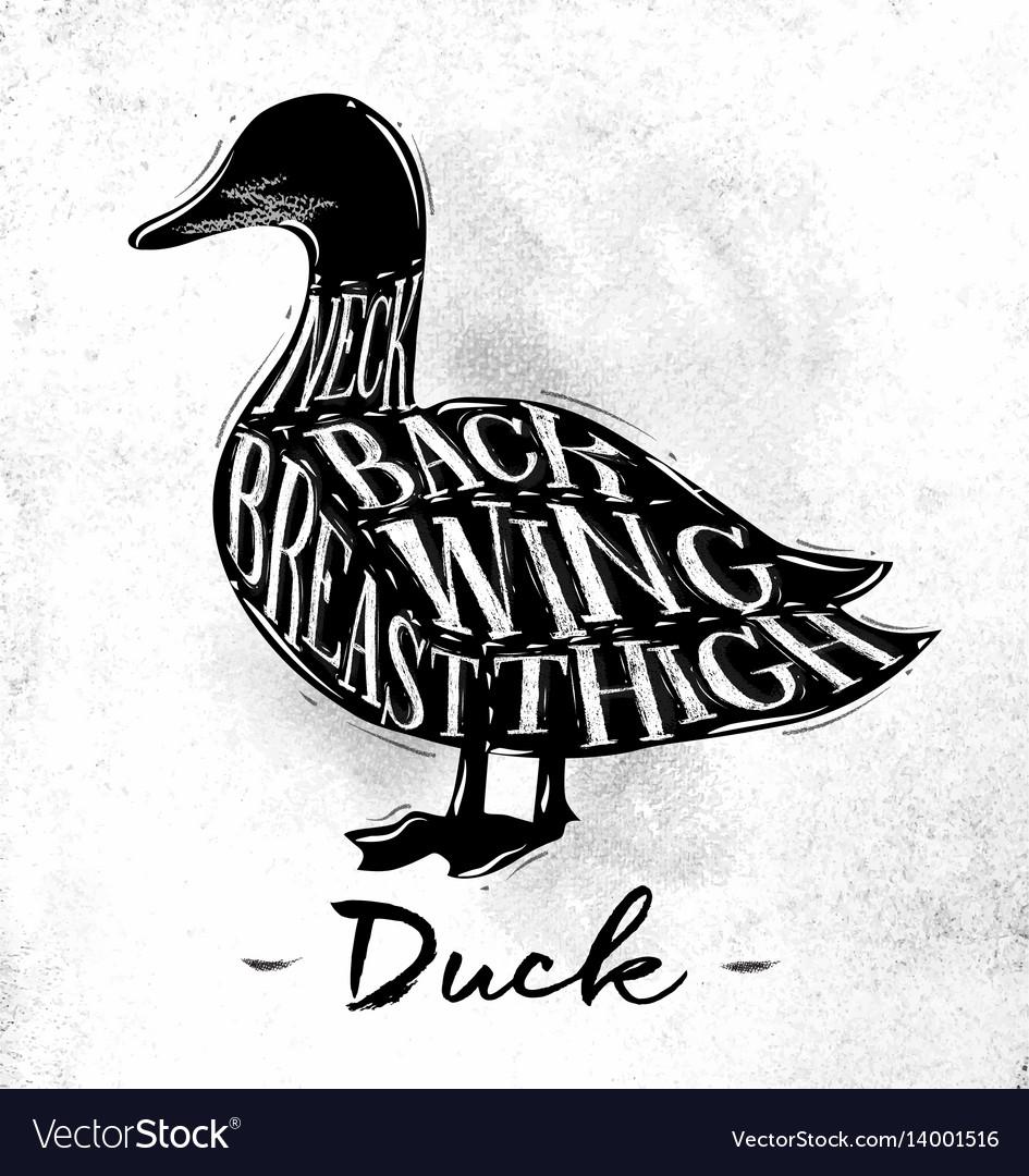 Duck cutting scheme