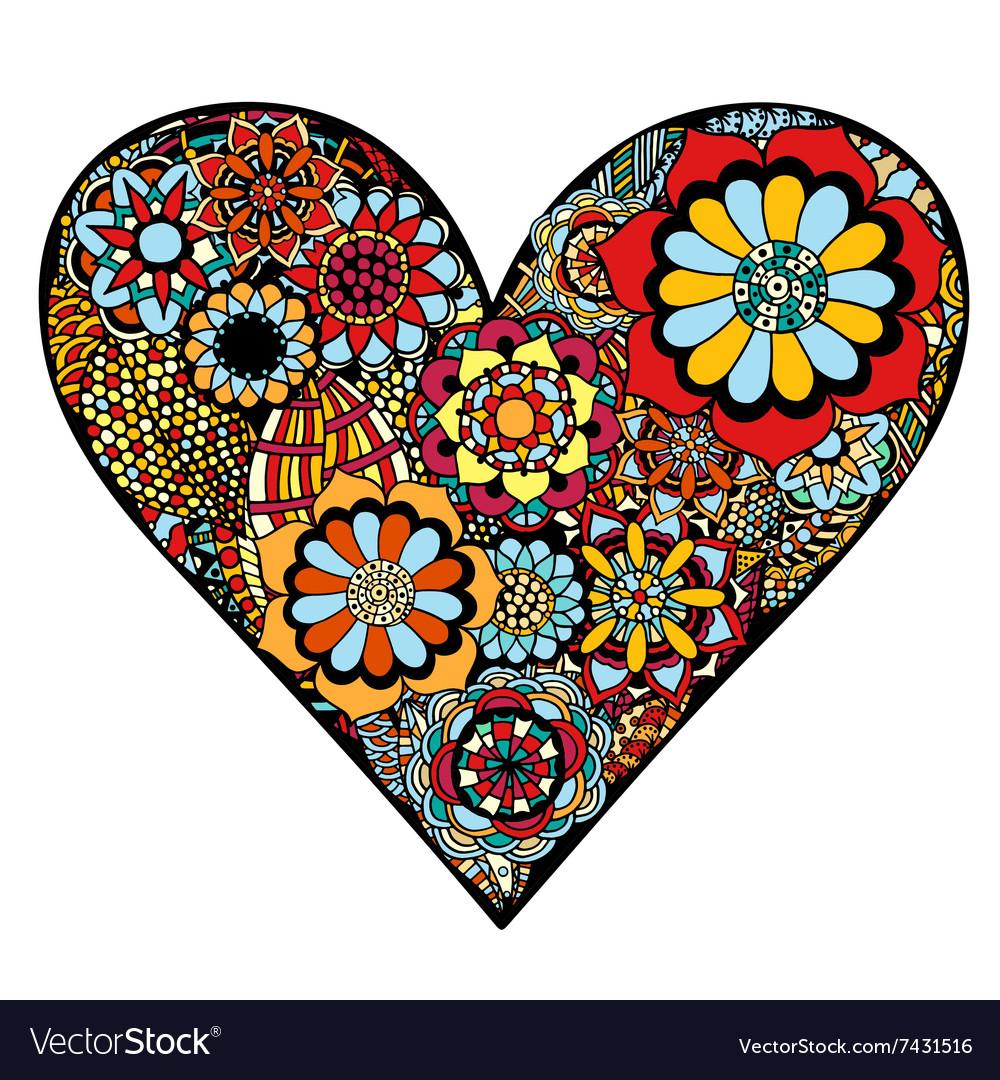 Heart of flower vector image