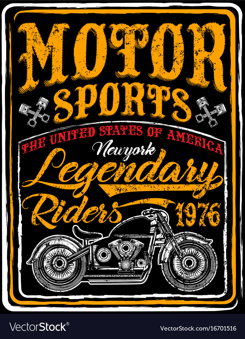 Motorcycle Label T Shirt Design With Of Custom